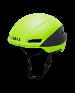 Hjelm Kali Tava Flow - Fluo gul/Sort - 52-58 cm - 0240519216 - allbike.dk