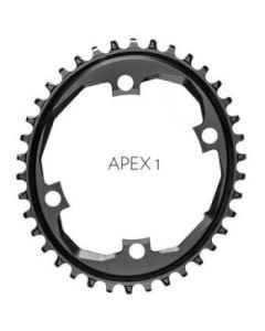 AbsoluteBlack klinge BCD110/4 asym NW - Oval - COVAPXxxBK - allbike.dk