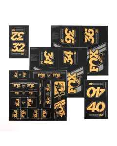 Fox Racing Shox AM Heritage Decal Kit for Fork and Shock, gold - DD80301342 - allbike.dk