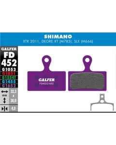 Bremseklods Galfer G1652 Shimano XTR/XT - FD452G1652 - allbike.dk