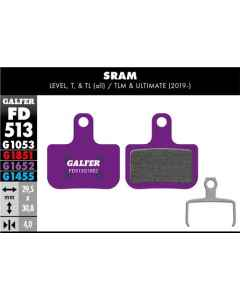 Bremseklods Galfer G1652 SRAM Force/Level/Red - FD513G1652 - allbike.dk