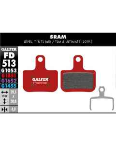 Bremseklods Galfer G1851 SRAM Force/Level/Red - FD513G1851 - allbike.dk