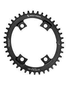 Wolftooth DropStop Oval klinge BCD110/4 asym Shimano - sort - WT-Oval-SH110xx - allbike.dk