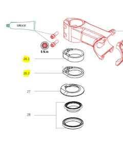 Orbea Oiz carbon mtb headset spacers kit - X0210000 - allbike.dk