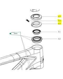Orbea Alma carbon Blocklock Headset Cover Assembly - X0300000 - allbike.dk
