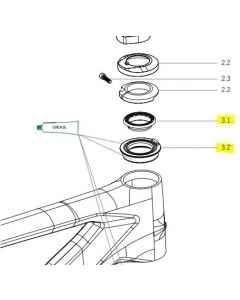 Orbea Alma carbon 2021 Blocklock Cup and Bearing Assembly - X0310000 - allbike.dk