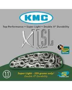 Kæde 11 speed KMC X-11-SL sølv 118 led - BX11SLN18