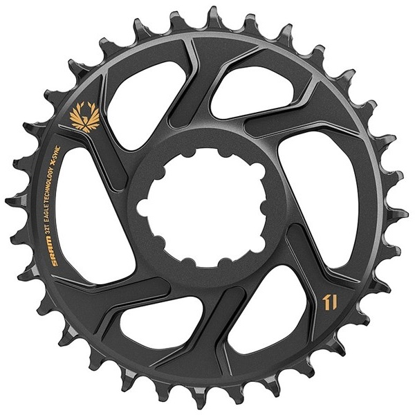 SRAM Klinge Eagle X-Sync 3 mm off set sort/guld12 speed - 11.6218.030.1xx | chainrings_component