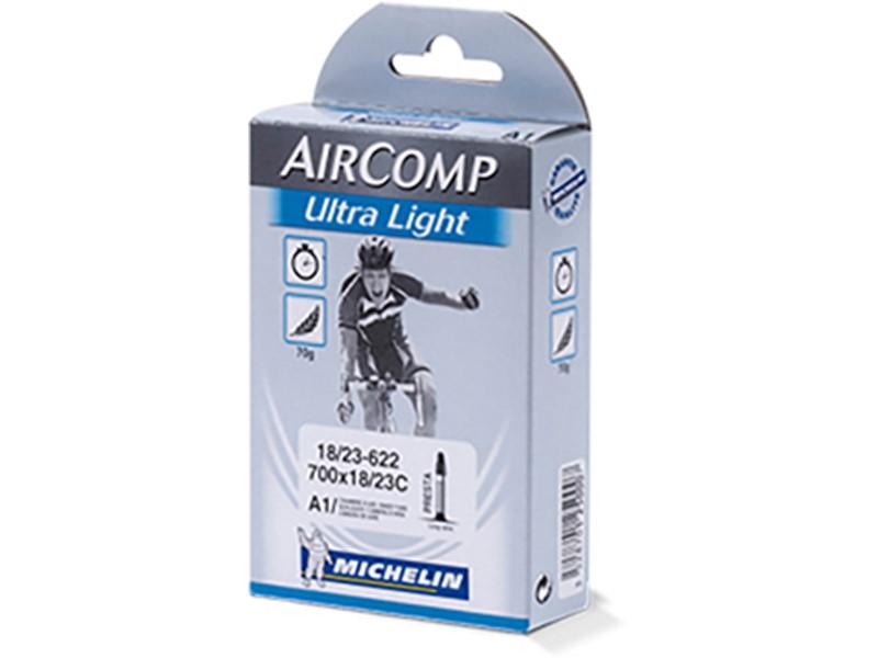 Slange Michelin Aircomp Ultralight 700 x 18-23C (FV60) | Tubes