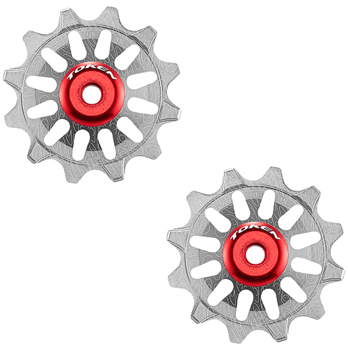 Pulleyhjul Token 172X Alu - SRAM 1x11 - 12T - TK172X - Grå | Pulley wheels