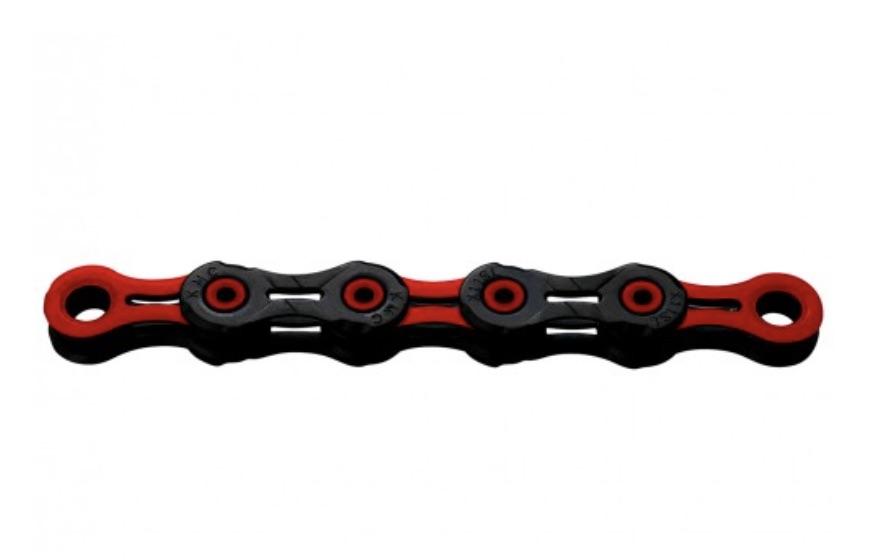 Kæde 11 speed KMC X-11-SL DLC Sort/Rød 118 led - BD11BR118   Kæder