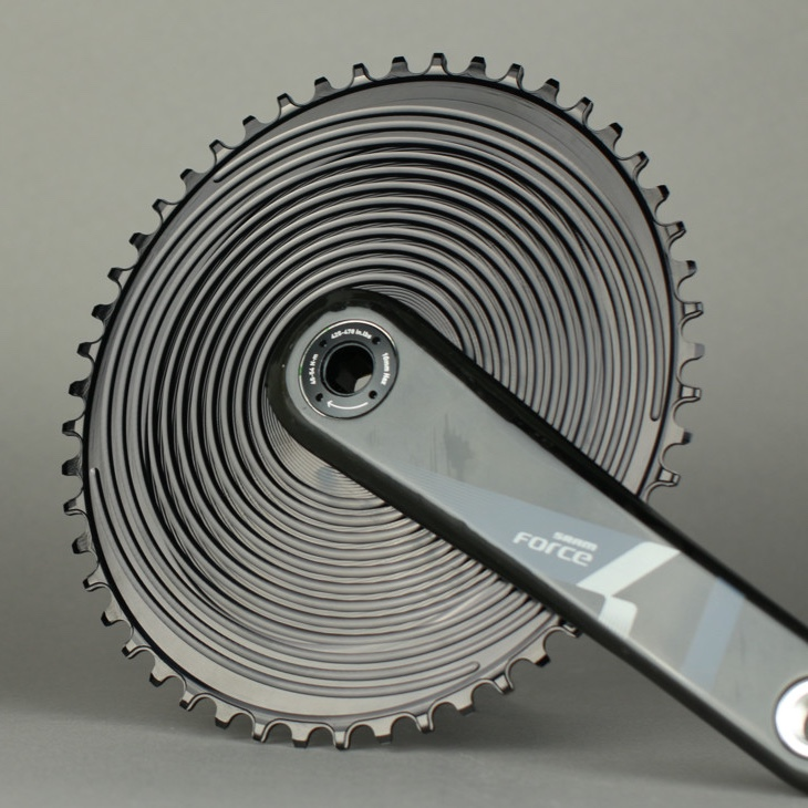 AbsoluteBlack Aero SRAM 1x Direct Mount Oval klinge - sort SRAERONWxxBK | chainrings_component
