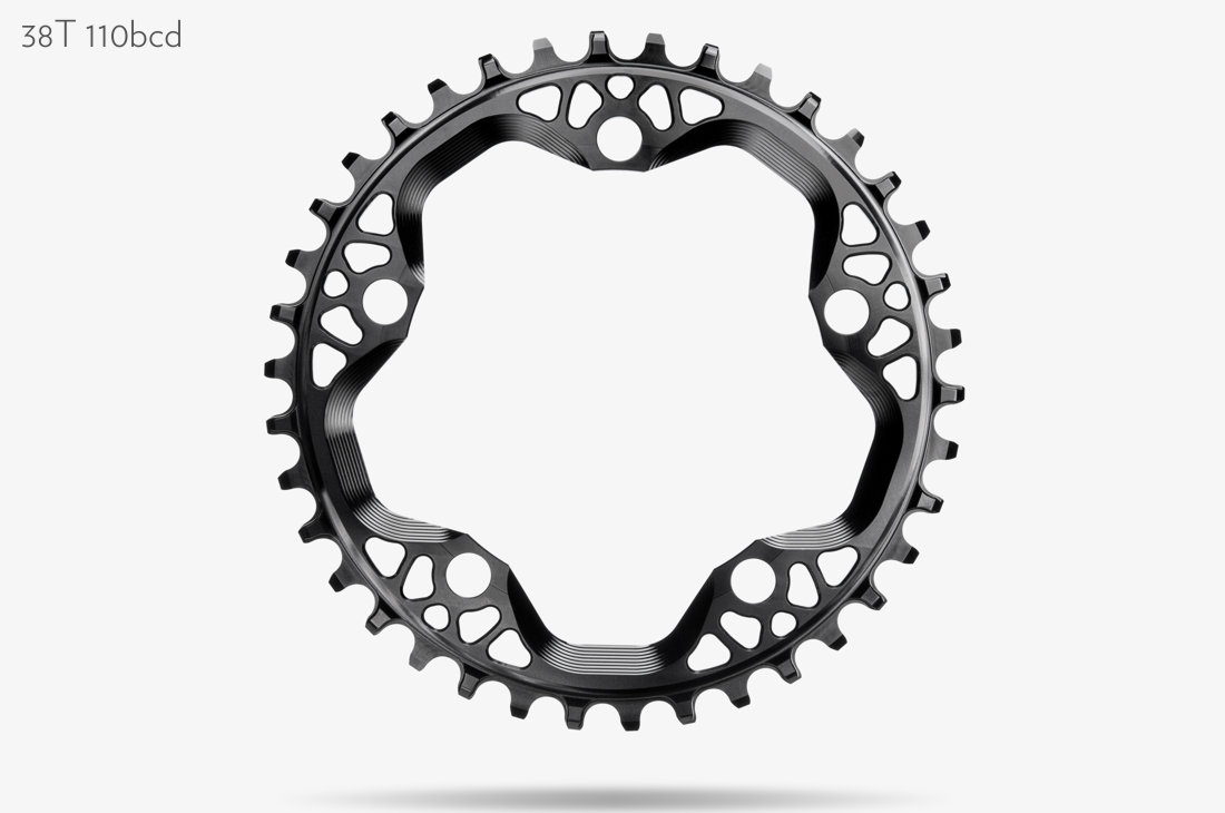 AbsoluteBlack Klinge Narrow/Wide CX Rund 110/5 - Sort - CXxx1BK | chainrings_component