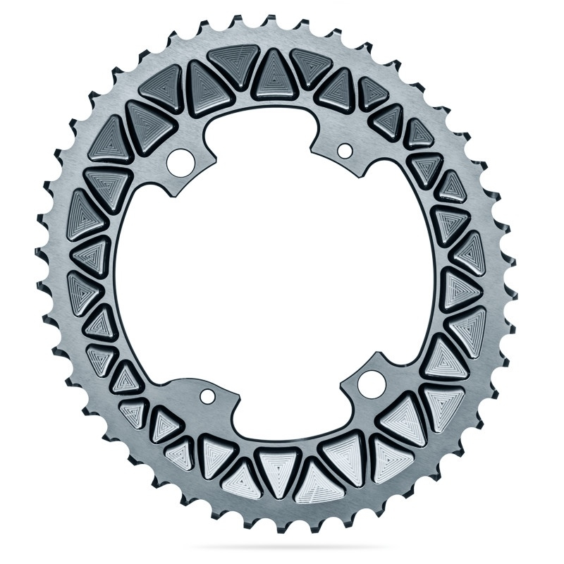 AbsoluteBlack Oval Road Klinge BCD 110/4 Subcompact - grå - ROVxx/4GR | chainrings_component