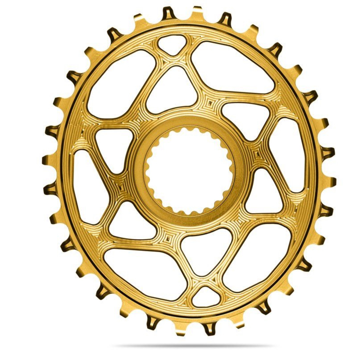 AbsoluteBlack Klinge NW Shimano 12 speed OVAL - Guld - SHDMOVxxGL | chainrings_component