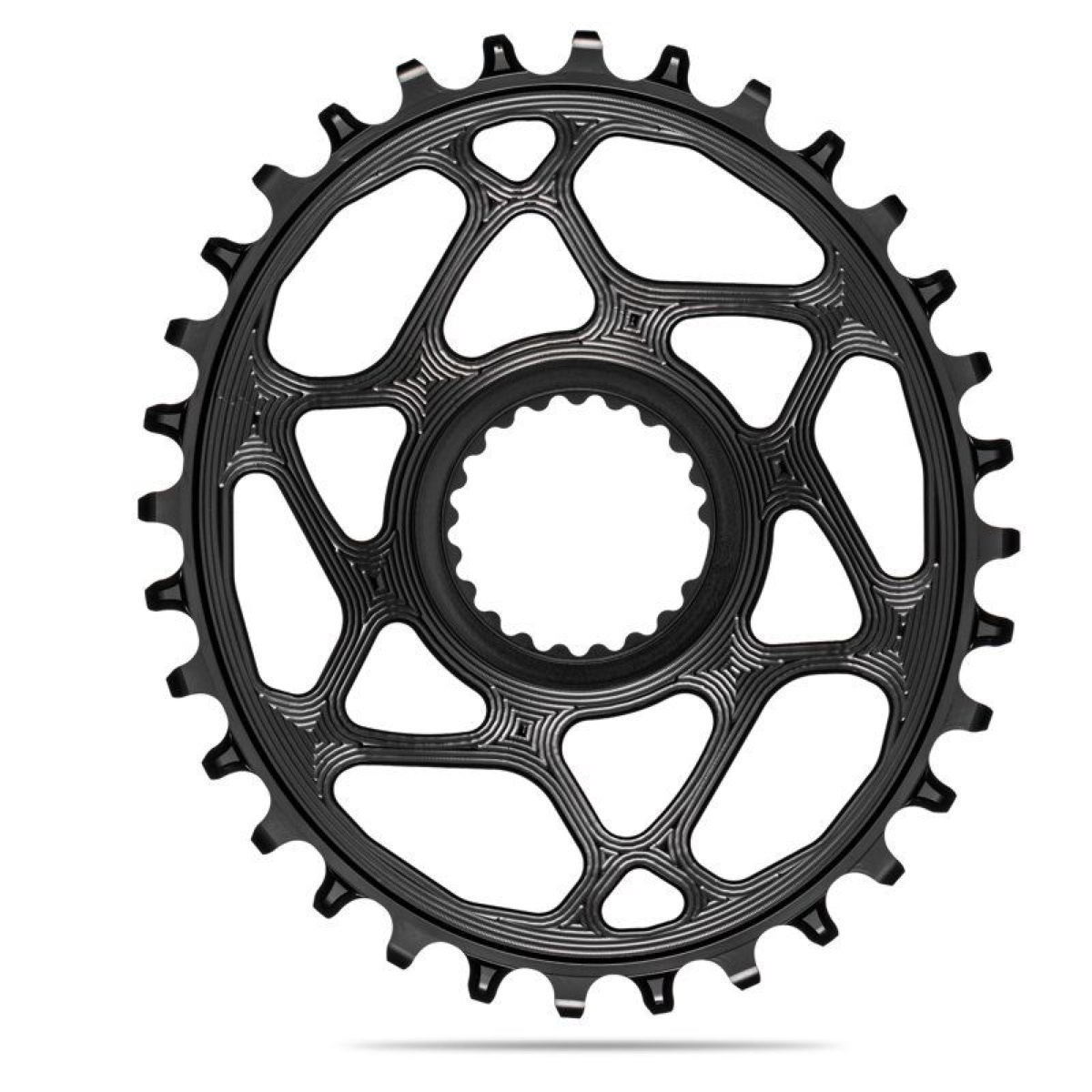 AbsoluteBlack Klinge NW Shimano 12 speed OVAL - Sort - SHDMOVxxBK | chainrings_component