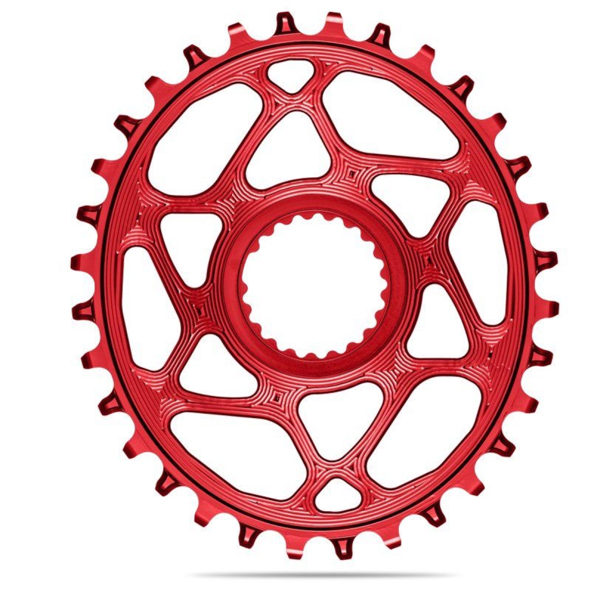 AbsoluteBlack Klinge NW Shimano 12 speed OVAL - Rød - SHDMOVxxRD | chainrings_component