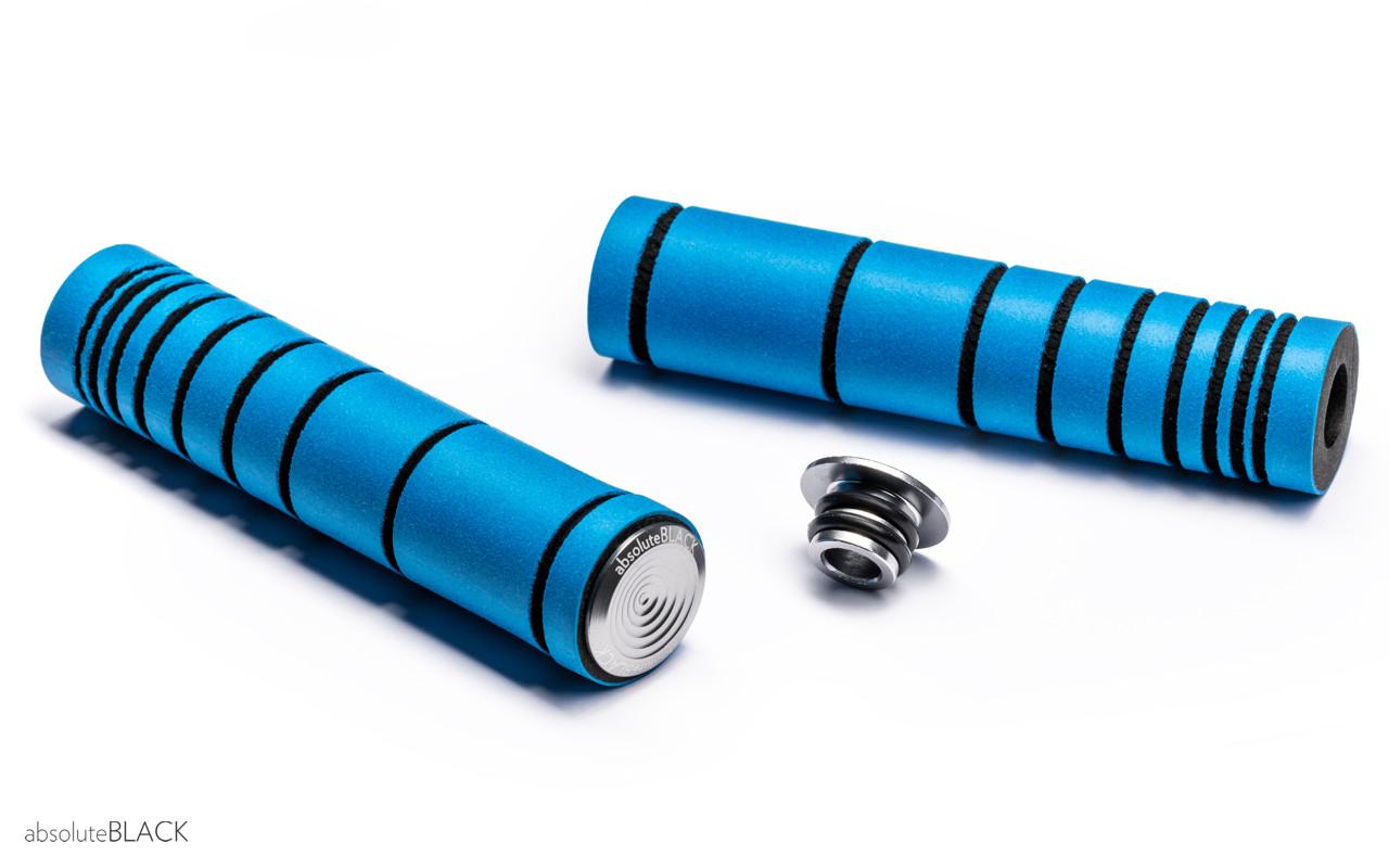 Håndtag AbsoluteBLACK silikone 33 mm- Blå - ABGRIPBL | Handles