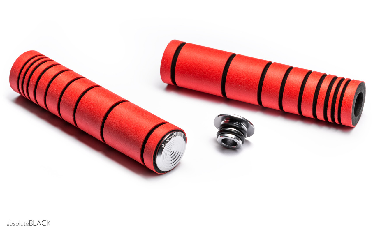 Håndtag AbsoluteBLACK silikone 33 mm- Rød - ABGRIPRD | Handles