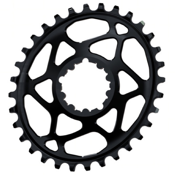 AbsoluteBlack Klinge Narrow/Wide SRAM Spiderless GXP OVAL - Sort | chainrings_component