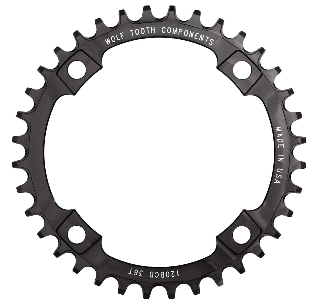 Wolftooth Narrow Wide Klinge BCD 120 - sort | chainrings_component