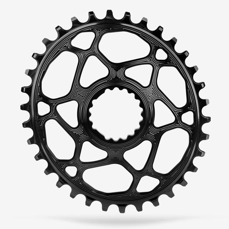 AbsoluteBlack Klinge NW Spiderless Cannondale Hollowgram Oval Sort - CNOVxxBK | chainrings_component