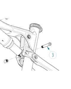 Orbea Shock Link Pivot Bolt OIZ 19 - 12300067 - allbike.dk