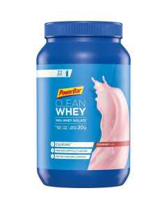PowerBar Clean Whey protein - Jordbær - 570 g - 24780100 - allbike.dk