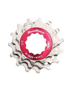 Kassette tandhjul 12 speed Sunrace sølv 11-13-15T - SPCS12M - allbike.dk