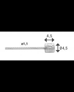 Gearwire Elvedes 49 tråde 1,1 mm x 2250 mm Strands Slick - EL6472RVSSHIM49SLBOX