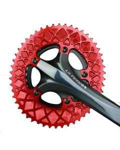 AbsoluteBlack Premium Oval Road Klinge BCD 110/5 - rød