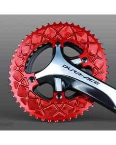 AbsoluteBlack Premium Oval Road Klinge BCD 110/4 - rød