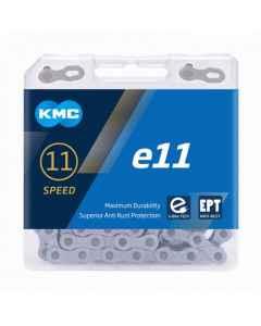 Kæde 11 speed KMC E11 EPT E-Bike  sølv 136 led - BE11TEP22 - allbike.dk
