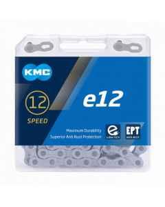Kæde 12 speed KMC E12 EPT E-Bike  sølv 130 led - BE12TEP30 - allbike.dk