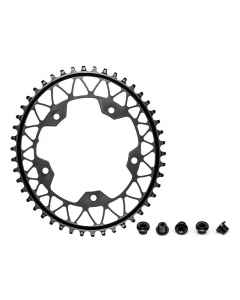AbsoluteBlack Klinge NW 1x Oval Shimano 110/5 - Sort - GROVxx1105BK