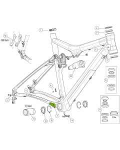 Cannondale Chainstay Protector for Scalpel80 - KP162
