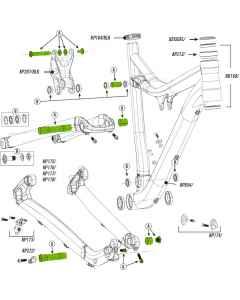 Cannondale Link Hardware Kit Scalpel 29 - sort - KP208/BLK