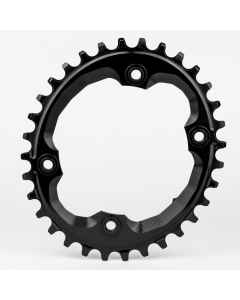 AbsoluteBlack Klinge Narrow/Wide Shimano XTR M9000 OVAL - Sort - OV96XTRxxBK
