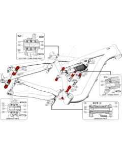 Kugleleje kit til Specialized Camber 2013-2015 - 989E-5000