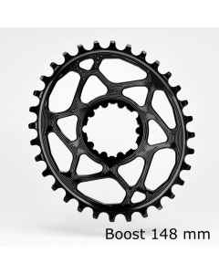 AbsoluteBlack Klinge Spiderless SRAM GXP Boost OVAL - sort  - SROVBOOSTxxBK