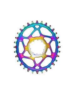 AbsoluteBlack Klinge DM SRAM Boost OVAL - Rainbow - SROVBSTxxRB - allbike.dk