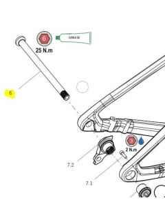 Orbea Alma carbon 2021 Rear Axle 12x171 (1.0x13) Lite - X0320000 - allbike.dk