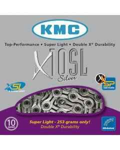 Kæde 10 speed KMC X-10-SL sølv 114 led