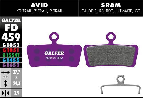 Bremseklods Galfer G1652 AVID TRAIL/SRAM GUIDE   bremseskive og -klods
