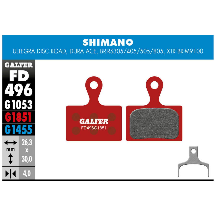 Bremseklods Galfer G1851 Shimano Advanced   bremseskive og -klods