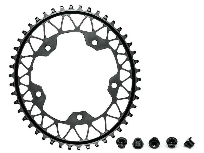 AbsoluteBlack Klinge NW 1x Oval Shimano 110/5 - Sort - GROVxx1105BK | chainrings_component
