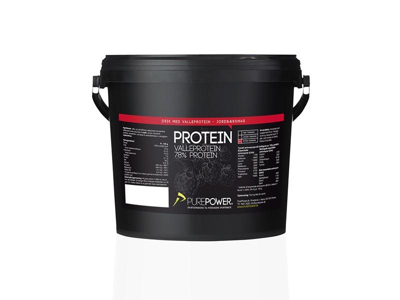Purepower Proteinpulver - 3000g - Jordbær - 6941370   Proteinbar og -pulver