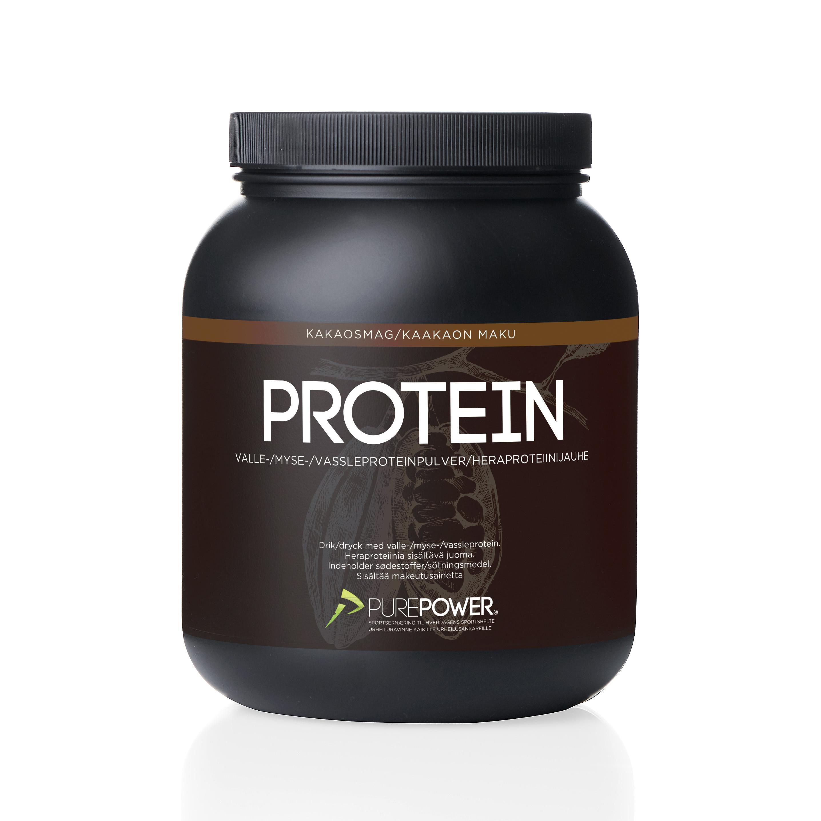 Purepower Proteinpulver - 1000g - Chokolade - 6942300   Proteinbar og -pulver