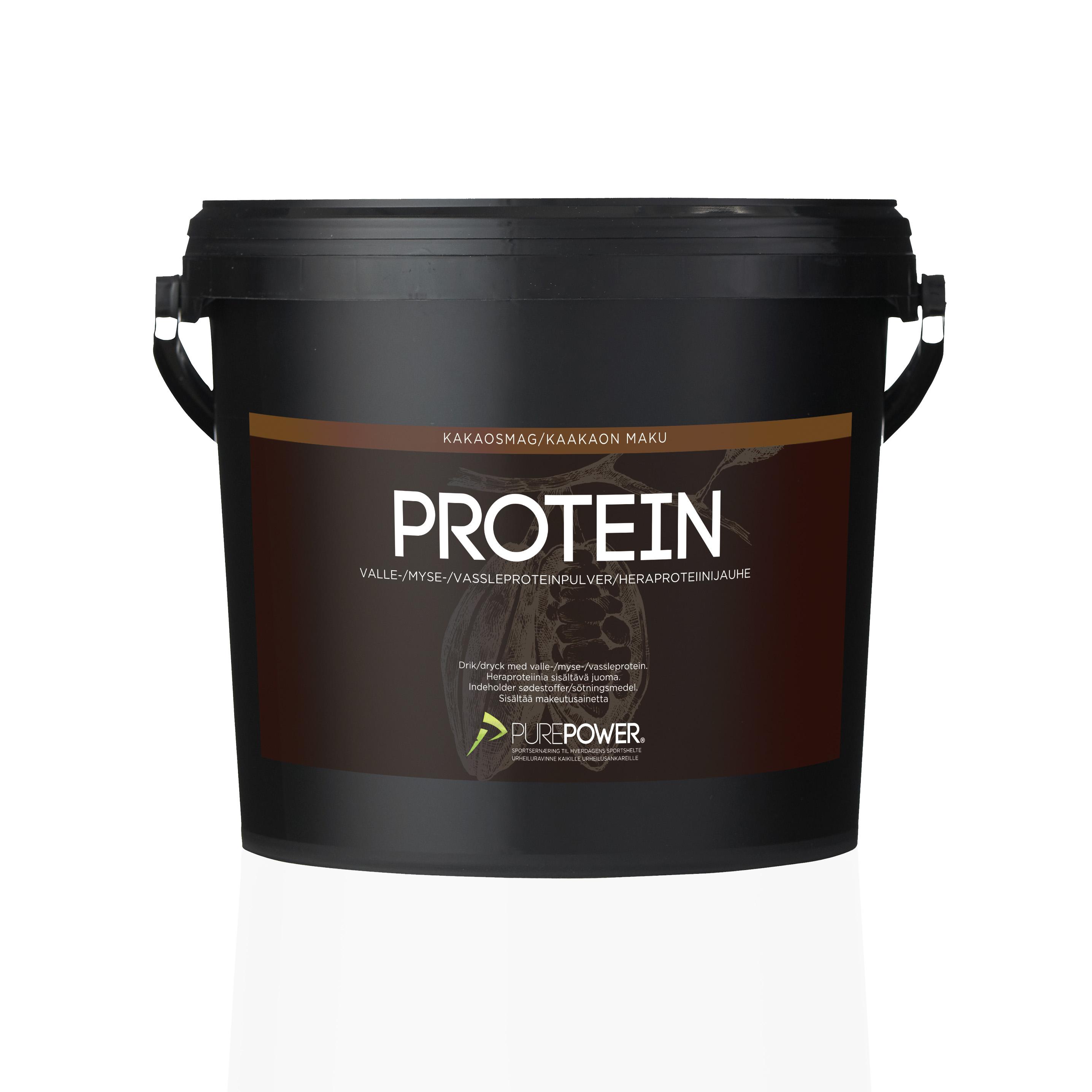 Purepower Proteinpulver - 3000g - Chokolade - 6942370   Proteinbar og -pulver