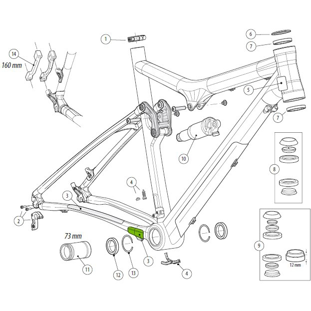 Cannondale Chainstay Protector for Scalpel80 - KP162 | Misc. Gears and Transmission